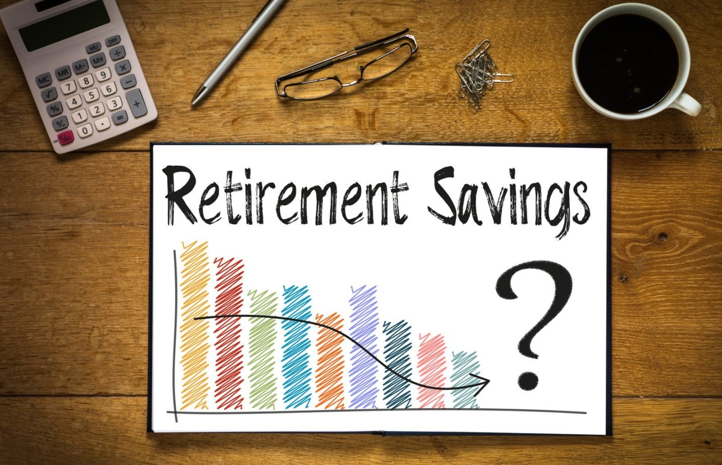 Does Your Retirement Planning Support Your Legacy Goals   Chart showing dwindling retirement savings