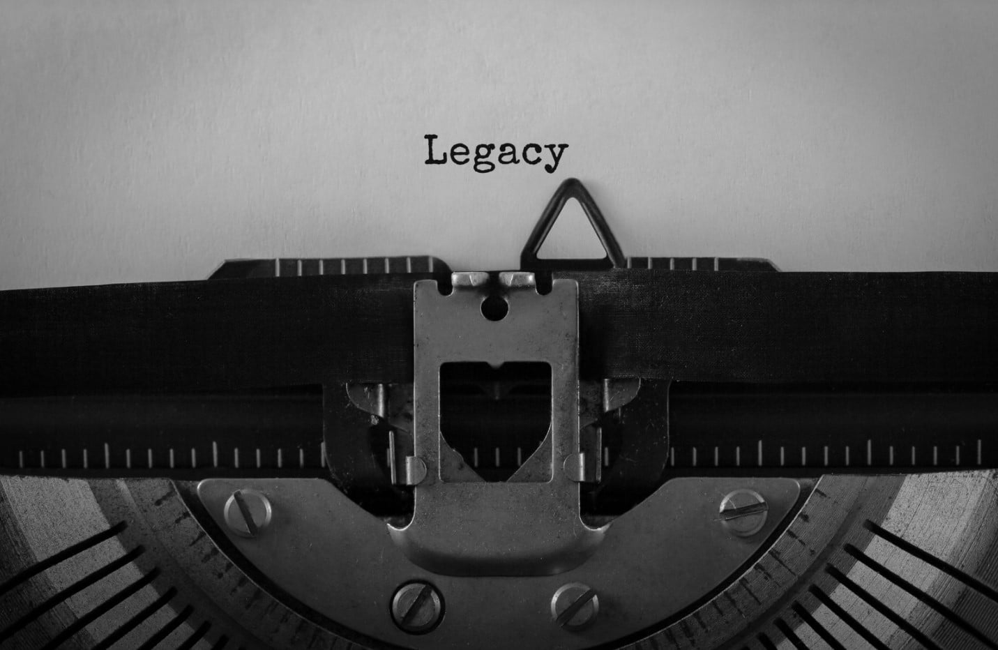 Estate planning and your financial legacy   typewriter typing the word legacy